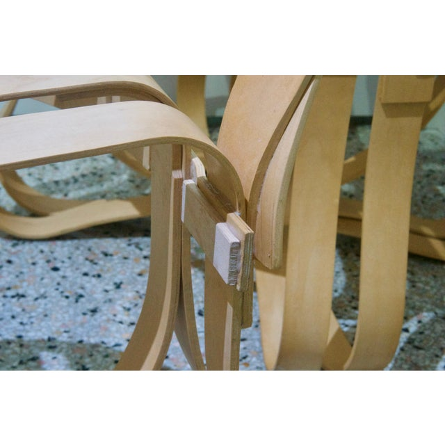 "Tan ""Cross Check"" Bentwood Armchairs by Frank Gehry for Knoll 1993 - a Pair For Sale - Image 8 of 13"