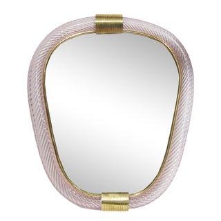 1960s Ritorto Murano Mirror by Seguso For Sale