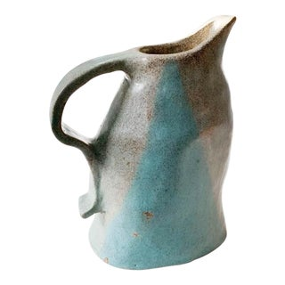 Vintage Hand Thrown Pottery Pitcher, Signed For Sale