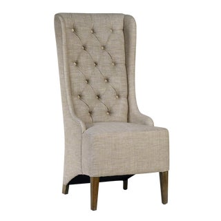 Tufted Cotton Dining Chair For Sale