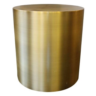 Thayer Coggin Design Classic Bronze Drum Table