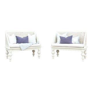 Pair of Polo Lounge Benches For Sale