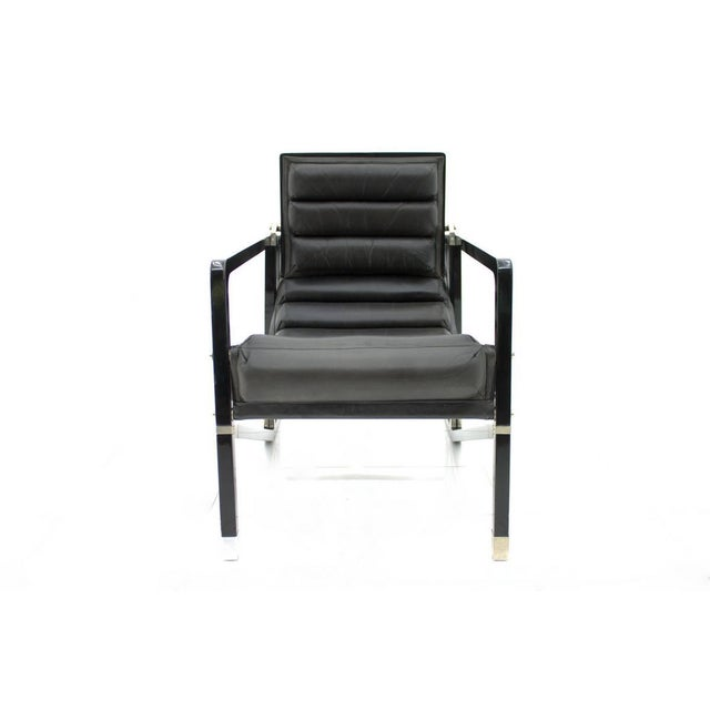 Black Eileen Gray Transat Lounge Chair by Ecart International, 1980s For Sale - Image 8 of 10