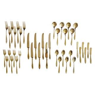 """Regal"" Bronze Flatware Set For Sale"