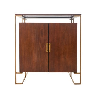 1950s Mid Century Rosewood Dry Bar Wine Cabinet For Sale