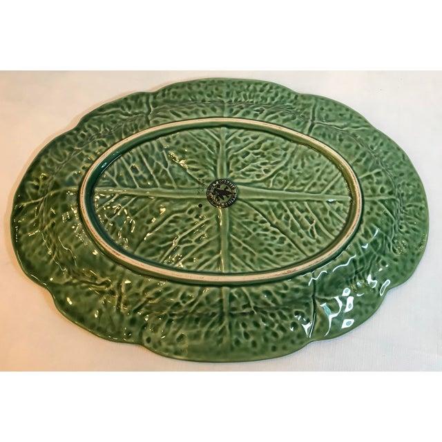 Ceramic Vintage Majolica Cabbage Platter For Sale - Image 7 of 8
