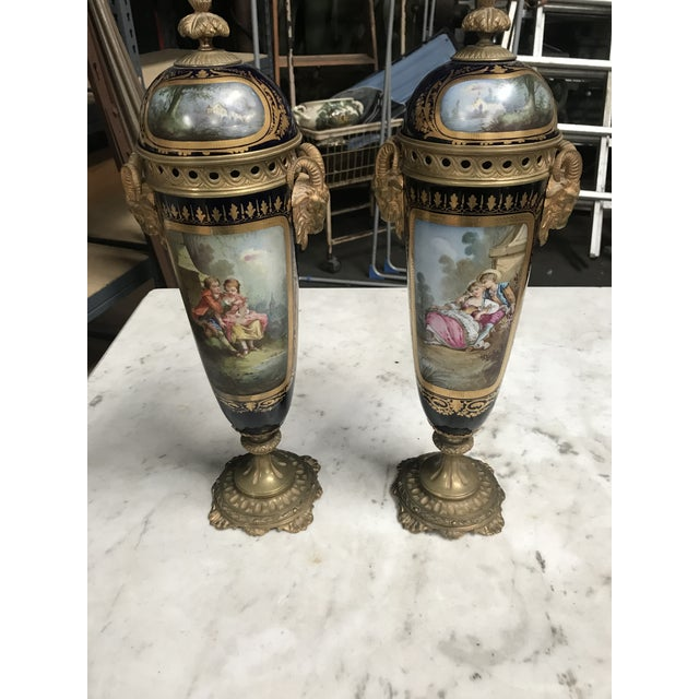 1860s Antique Decorative Sevres - a Pair For Sale - Image 10 of 10