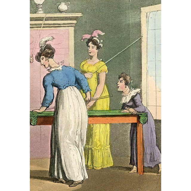 Illustration The Billiard Table, 1855 Engraving For Sale - Image 3 of 4