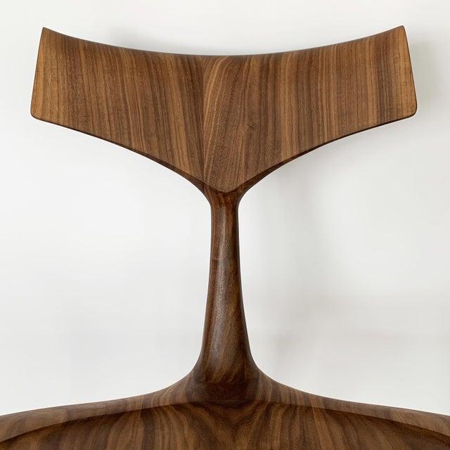 "Brown Sculptural Walnut ""Whale"" Chair Morten Stenbaek For Sale - Image 8 of 13"