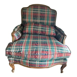 Late 20th Century Bergere Upholstered Chair For Sale