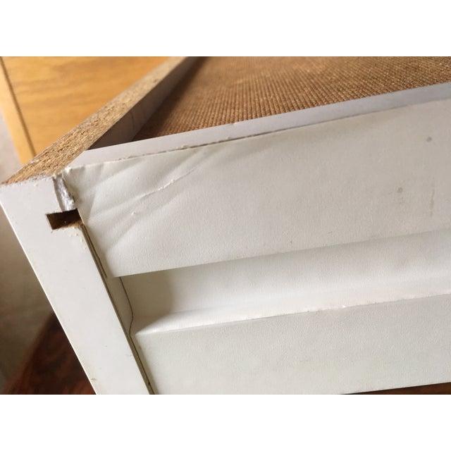 Danish Modern Mid-Century Teak & White Two-Drawer Desk For Sale - Image 10 of 13