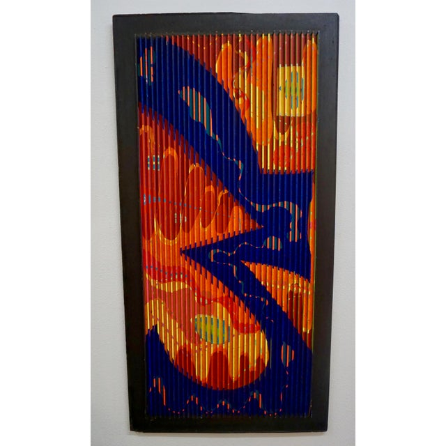 Red Abstract Relief Painting by Louis Nadalini For Sale - Image 8 of 8