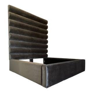 Upholstered Modern King Bedframe For Sale
