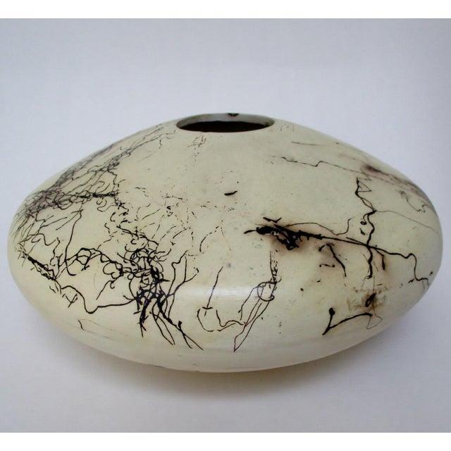 Navajo Navajo Artisan Horsehair Vase For Sale - Image 3 of 8