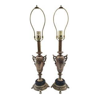 Vintage Rembrandt Table Lamps - a Pair For Sale