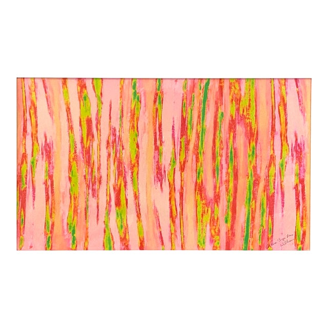 """Abstract Pink Green """"Enlightened Terrain"""" Artist's Print by Suga Lane For Sale"""