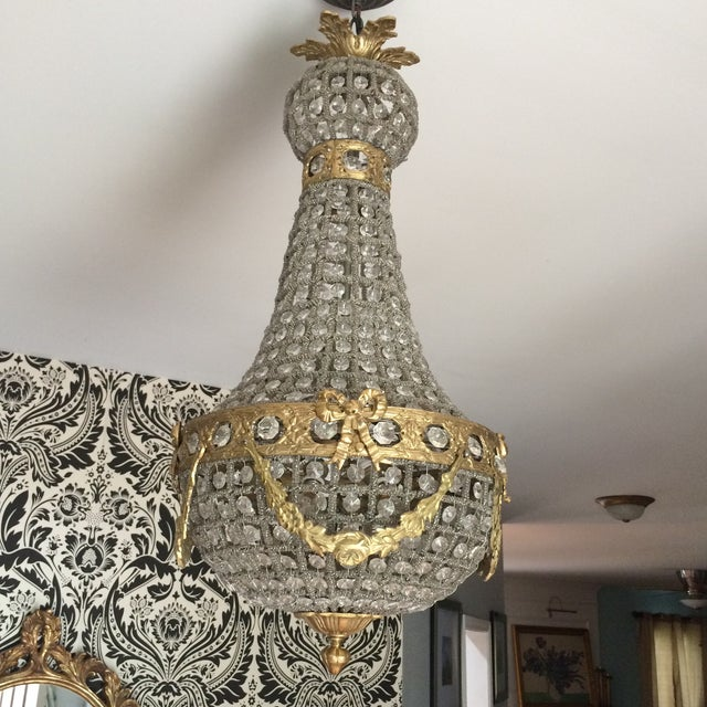 Empire Chandelier With Brass Detail - Image 2 of 6