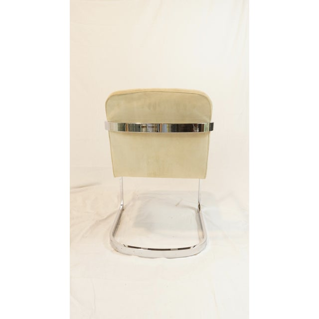 Vintage Chrome Armchair With Suede Upholstery - Image 5 of 5