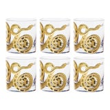 Image of Snake Double Old Fashioned Glasses Gold - Set of 6 For Sale