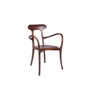 Spanish Bentwood Armchair With Wood Seat and Back For Sale