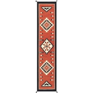 Contemporary Navajo Style Wool Runner Rug - 2′6″ × 11′10″ For Sale