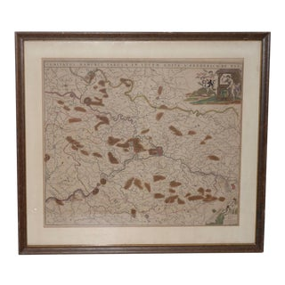 18th Century Map of the Historic County of Namur, Belgium For Sale