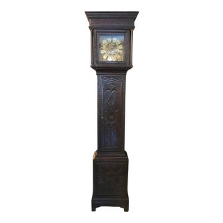 19th Century Vintage English Tall Case Clock For Sale