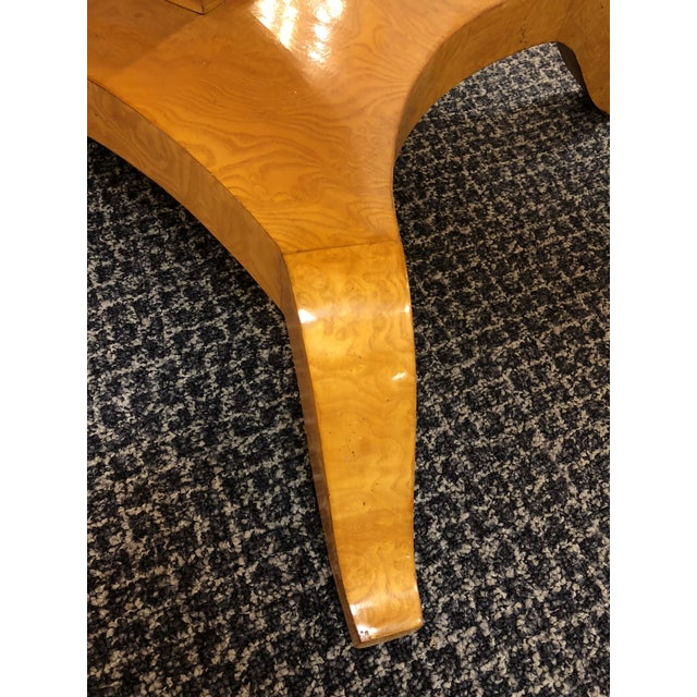 Art Deco Maple Drop-Leaf Table For Sale - Image 9 of 10