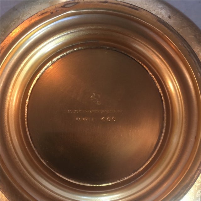 Tiffany Bronze Gold Guilt Bowl - Image 5 of 5