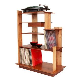 Custom Made Wood Stereo Cabinet /Turntable Shelf For Sale