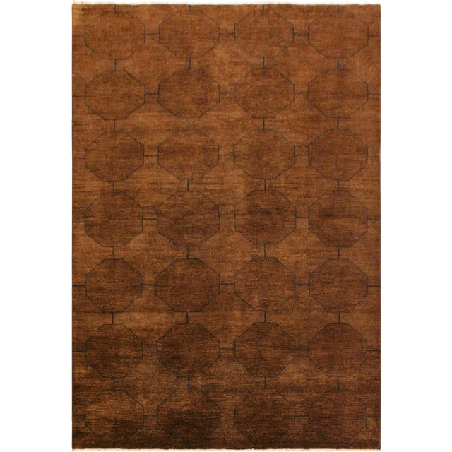 Overdyed Color Reform Donnie Brown/Blue Area Rug - 5'11 X 8'6 For Sale