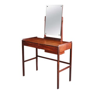 1960s Mid Century Modern Arne Vodder Rosewood Dressing Table for n.c. Mobler For Sale