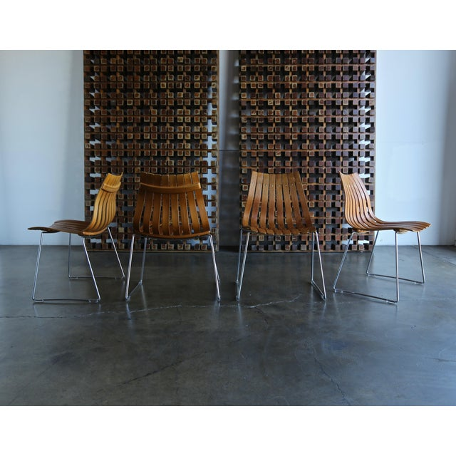 1960s Hans Brattrud Scandia for Hove Mobler Dining Chairs - Set of 4 For Sale In Los Angeles - Image 6 of 12