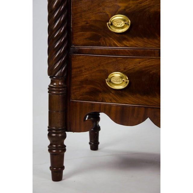 19th Century American Empire 6-Drawer Mahogany Vanity Dresser For Sale - Image 10 of 13