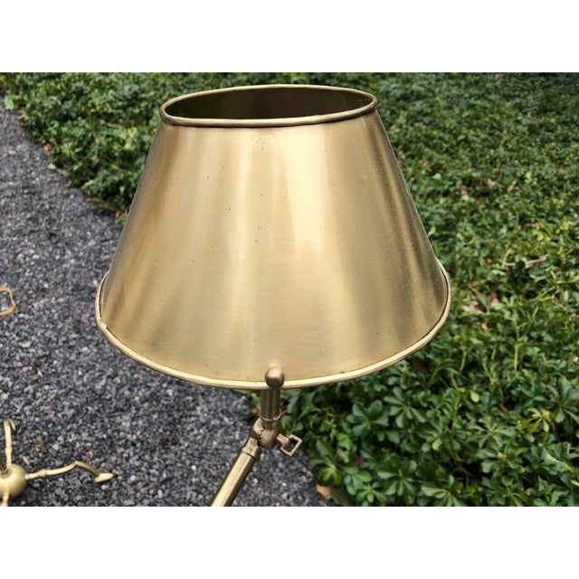 Essex Tripod Floor Lamps With Shades - a Pair For Sale - Image 9 of 13