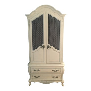 1970s French Hickory Manufacturing Armoire For Sale