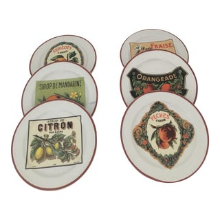 Rosanna by Williams-Sonoma Harvest Market Appetizer Plates - Set of 6 For Sale