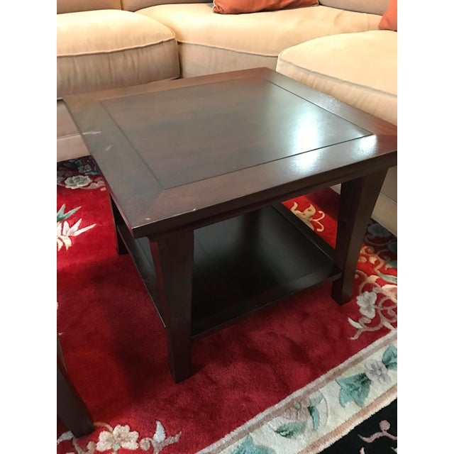 Pottery Barn Coffee Table Cubes A Pair Chairish - Pottery barn red coffee table