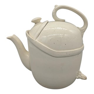 "Rare Antique English ""Simple Yet Perfect"" Cream Teapot For Sale"