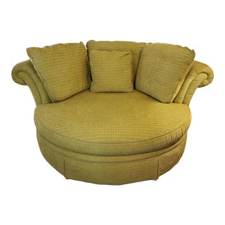 Taylor King Baudelaire Home Theater Sofa Chaise Lounge Chair and a Half For Sale