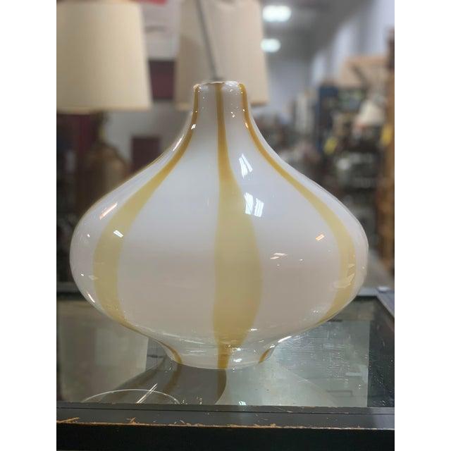 Truly amazing Murano midcenturymodern cupola pendant light for venini. Cased glass Designed by Massimo Vignelli. We have...