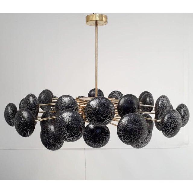 Metal Crackled Globes Chandelier by Fabio Ltd For Sale - Image 7 of 12