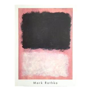 "Mark Rothko Abstract Expressionist Lithograph Print Poster ""Untitled Pink & Black"", 1967"