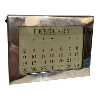 Tiffany & Co Sterling Perpetual Calendar For Sale
