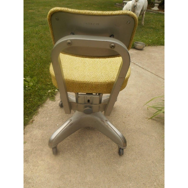 Industrial Steel & Aluminum Cole Office Chair - Image 4 of 5