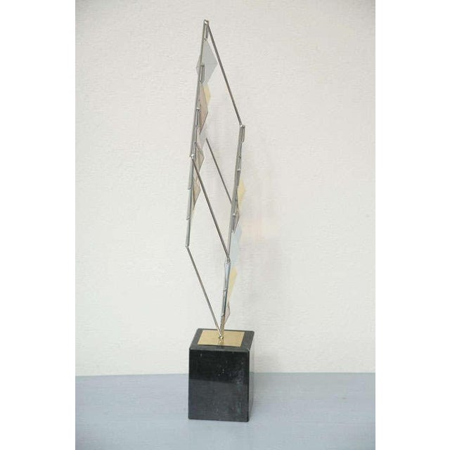 Brass and Chrome Sculpture by Curtis Jere For Sale In Miami - Image 6 of 11