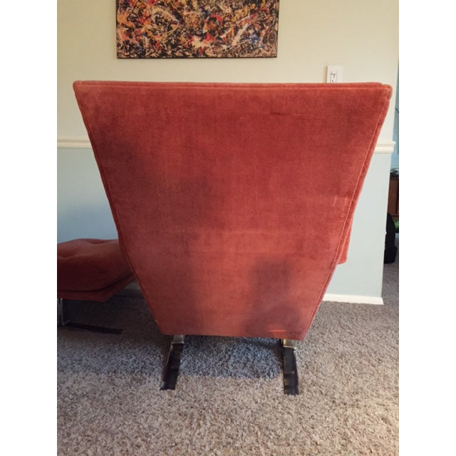 Wingback Chair With Ottoman by Adrian Pearsall - Image 5 of 8