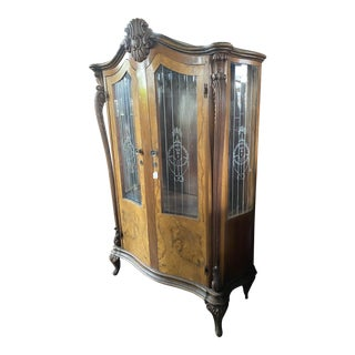 Antique Italian China Cabinet For Sale