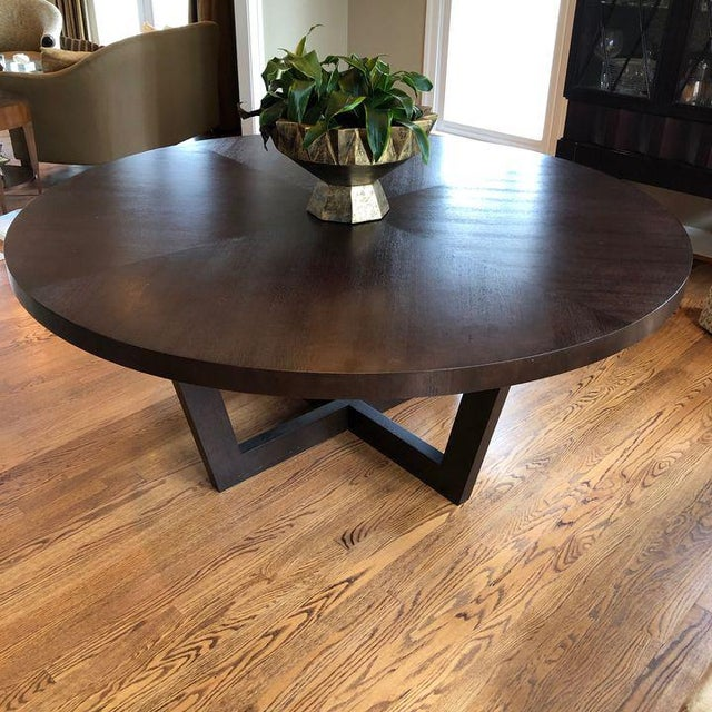 Brown Italian 72 Inch Round Dining Table For Sale - Image 8 of 13