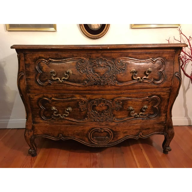 1900 - 1909 18th Century Style Carved French Provincial Dresser For Sale - Image 5 of 13